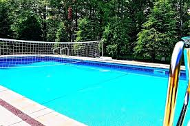 pool designs custom in ground fiberglass with removable volleyball net and automatic cover swimming ideas for