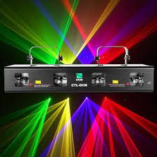 Online Laser Light Show 460mw Rgpy 4 Lens Stage Effect Laser Lighting Disco Party Dj