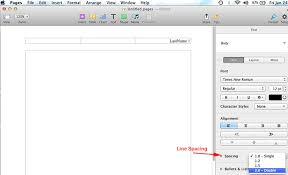 Apa Line Spacing How To Do Mla Format Using Pages On Mac Mla Format