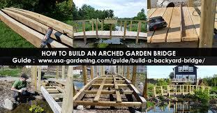 garden bridge build wood garden