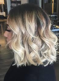 Balayage Ombre Highlights On Short Hair Long Bob Lob Blonde