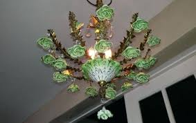 full size of capodimonte chandelier vintage green porcelain roses crystals 3 light fixture brass parts chande