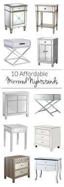 Mirrored Night Stands Bedroom 10 Options For Cheap Mirrored Nightstands Polished Habitat