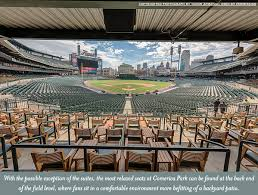 with the possible exception of the suites the most relaxed seats at comerica park can