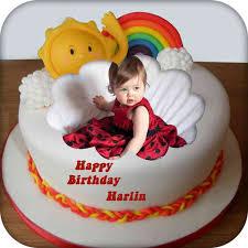 name and photo on birthday cake