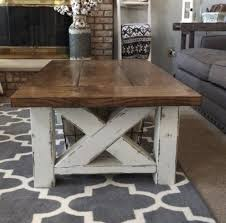 rustic coffee table set paint