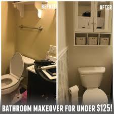 Frugal Bathroom Makeover For Under - Bathroom makeover