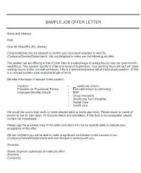 Job Offer Letter Template Word Letter Of Acceptance For Job Example Of Letter Acceptance Mail