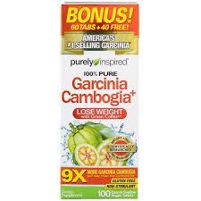 Purely Inspired, <b>Garcinia Cambogia+</b>, <b>100</b> Easy-To-Swallow Veggie ...