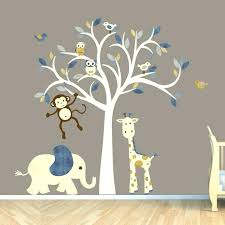 fabulous wall stickers for kids bedrooms monkey decal jungle animal tree nursery decals ikea singapore