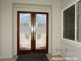 glass office front door and double entry doors with custom frosted glass