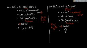 Kemampuan yang perlu dikuasai agar dapat menyelesaikan soal perbandingan trigonometri adalah fungsi dasar trigonometri seperti fungsi sinus, cosinus. Pelajaran Soal Rumus Sudut Lebih Dari 360 Derajat Wardaya College