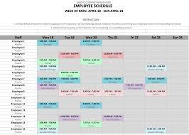 Volunteer Scheduling Template Hunecompany Com
