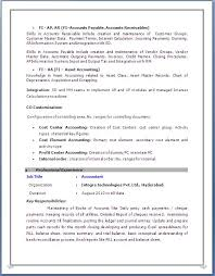 Sap Fico Resume Sample 11 Techtrontechnologies Com