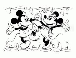 Mickey And Minnie Mouse Coloring Pages Free Printable Mickey Mouse