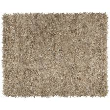 safavieh hand knotted leather beige leather rug 6 x 9