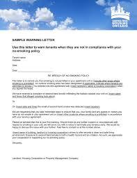 Hr Warning Letter Sample Warning Letter Smoke Free Housing Ontario