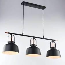 three pendant light design triple black lighting for kitchen island height