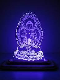 Đèn Led 3D|Mô Hình Tượng Phật Dược Sư | Mô Hình Đèn Led 3D Trang Trí