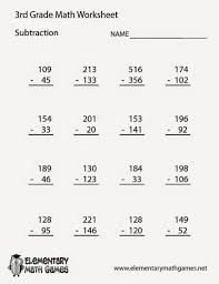 Math Worksheets for 3rd Grade Addition and Subtraction ...