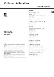 Whirlpool AQC9 6F7 TM (TK) User guide