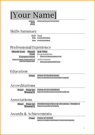 11 Resume Formats In Ms Word Skills Based Resume