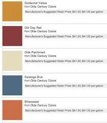 Color Chart Olde Century Colors