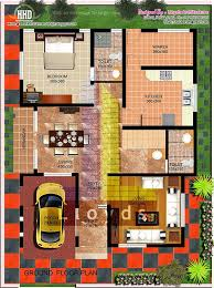 2000 sq feet villa floor plan and elevation house design plans