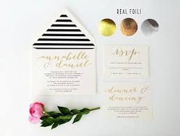Annabelle Gold Foil Wedding Invitation Sample // Rose Gold Foil ...