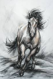 wild horse drawings in pencil. Contemporary Wild Galloping Steed Wild Horse Drawing By Artist Janet Ferraro With Wild Horse Drawings In Pencil W