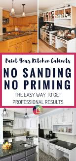 Painted Kitchen Cabinets How To Paint Kitchen Cabinets Without Sanding Or Priming