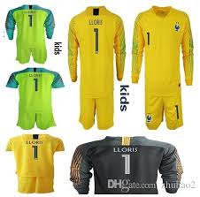 Uniforms 2 From Goalie 2018 T France World Long Sleeve Goalkeeper Kid Children Star Lloris Kids Cup Kits Shirt 1 2019 Jerseys