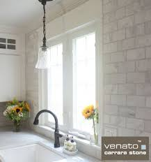 carrara carrera venato marble honed 3x6 subway floor and wall tile