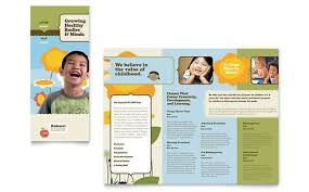 Free Tri Fold Brochure Templates Microsoft Word New Child Development School Tri Fold Brochure Template Design