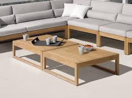 manutti siena teak garden coffee table
