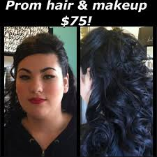 package at one prom hair half up half down with big messy curls on long dark hair clic makeup