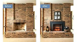 electric fireplace insert installation cost diy gas log