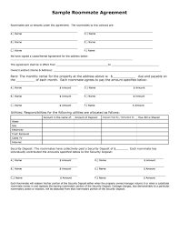Roommate Agreement Contracts 40 Free Roommate Agreement Templates Forms Word Pdf