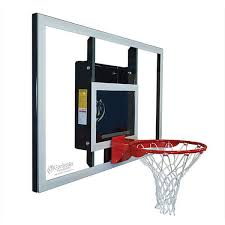 basketball hoop wall mount baseline angle view