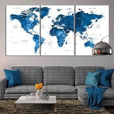 large wall art push pin world map canvas print extra large navy blue world map on amazon wall art canvases with amazon large wall art push pin world map canvas print extra