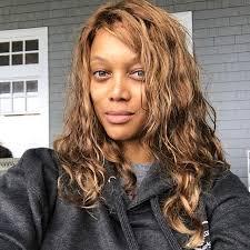 tyra banks shares no makeup photos
