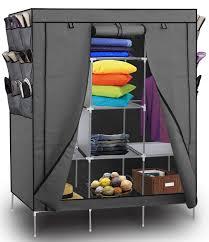 oxgord portable wardrobe closet shoe rack