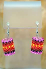 Navajo bead designs Headband Beaded Drum Earrings Navajo Wabanaki Beadwork Beaded Native American Jewelry