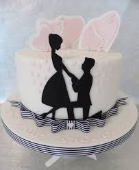 12 Fun Engagement Party Cakes Photo Silhouette Engagement Cake