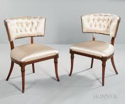 art moderne furniture. Pair Of Art Moderne Klismos-style Side Chairs Furniture A
