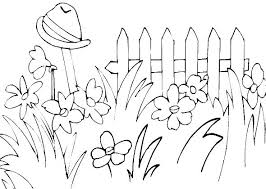 Flower Garden Coloring Page Flower Garden Coloring Page For Pages