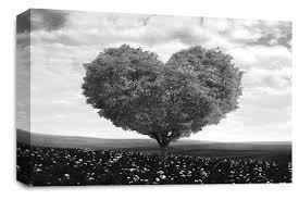 white grey red tree canvas print
