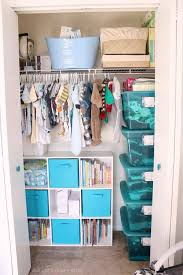 Landon's Grey and White Nursery. Nursery Closet OrganizationCloset ...