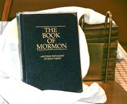 book of mormon with gold plates