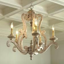inspiration white wood chandelier
